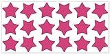 wandfabrik - Fahrradaufkleber - 18 schöne Sterne in pink