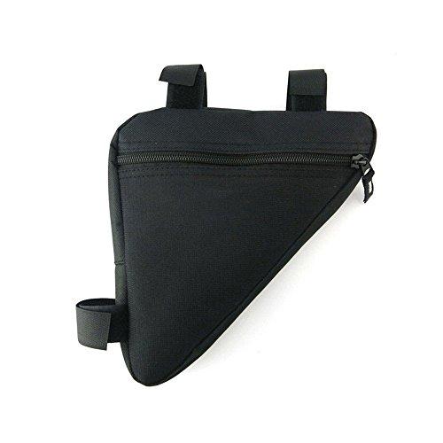 Bike Taschen, Fahrrad Lenker Staubbeutel Top Tube Triangle Bag Front Sattel Rahmen Tasche Outdoor. Schwarz