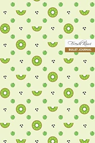 Fresh Kiwi Bullet Journal: Compact 6 x 9 inches 120 Cream Paper Blank Dot Grid Notebook / Planner / Diary (Fruity Family)