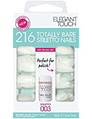 Elegant Touch Totally Bare Bumper Kit d'Ongles Stilletto 216 Pièces