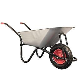 Schubkarre 100 Liter mit verzinkter Wanne & Luftreifen