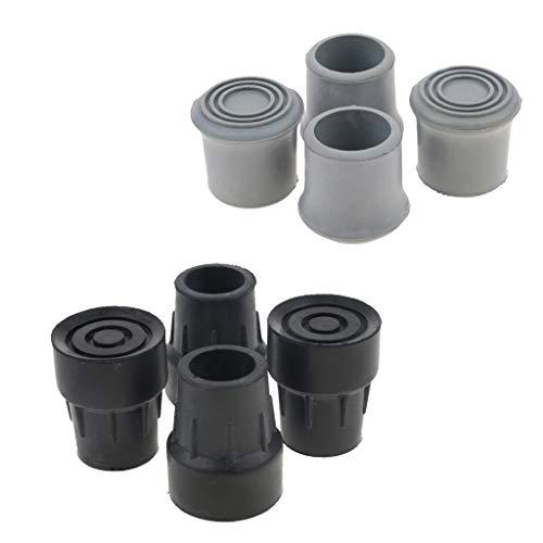 IPOTCH 8er Set Krückenkapsel Gehhilfenfuß für Unterarmgehstützen Gehstöcke Gehhilfen passend für Rohre, Innendurchmesser: 2,2 cm