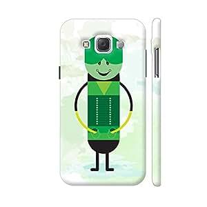 Colorpur Cool Modern Green Man Designer Mobile Phone Case Back Cover For Samsung Galaxy E5   Artist: Designer Chennai