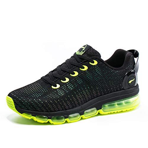 ONEMIX Uomo Scarpe da Ginnastica Riflesso colorato Running Basse Respirabile Sportive Sneakers 1216A Light Green 41