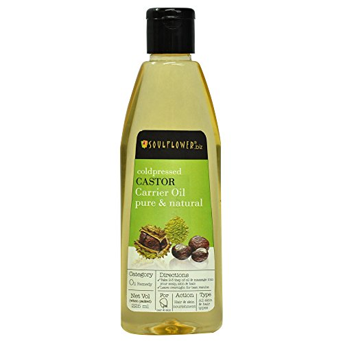 Soulflower Coldpressed Castor Carrier Oil, 225ml
