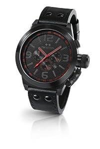Reloj TW Steel TW-903 de cuarzo para hombre con correa de piel, color negro de TW Steel