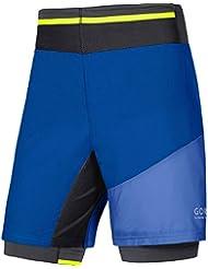 GORE RUNNING WEAR Herren 2 in 1 Laufshorts und Tights, GORE Selected Fabrics, FUSION 2in1 Shorts, Größe L, Schwarz, TSTULT