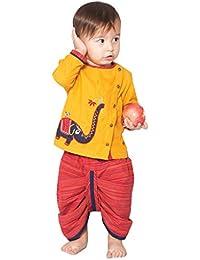 Tiber Taber Boys' Handloom Cotton Dhoti Kurta