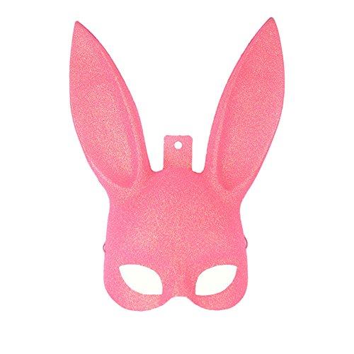 Brave Pioneer Halloween Damen Masquerade Kaninchen Maske Hase Maskerade Bunny Maske Für Halloween Party Club Bars (pink)