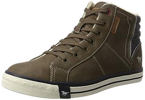 Mustang Herren 4096-601-3 Hohe Sneaker, Braun (Braun), 44 EU