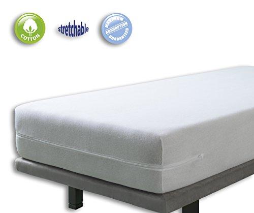 Funda colchón rizo elástica. Cama 90x190200