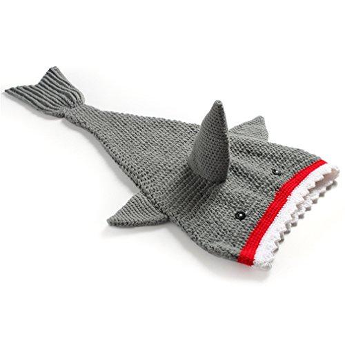 Kinder Baby Strick Mütze Fotoshooting Neugeborene Hai Muster Design Hut Kostüm Hüte (Hai Hut Kostüm)