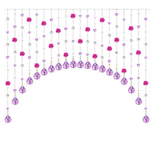 Wohnaccessoires Crystal Bead Vorhang Rose Partition Curtain Wohnzimmer Porch Dekorativer Vorhang...