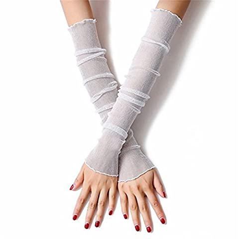 CHIC*MALL Summer Driving Sun Sets Cuffs Ice Sleeves Thin Net