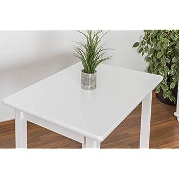 Tisch 60x90 cm Kiefer massiv, Farbe: Weiß: Amazon.de: Baumarkt