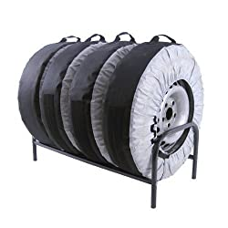 Reifenständer für 4 Reifen Ständer Reifen Reifenhalter Felgenbaum Reifenständer Reifenregal