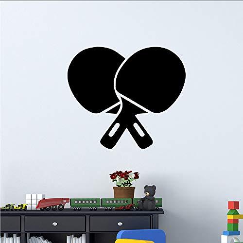 tzxdbh Schönheit TischtennisschlägerWandaufkleberabnehmbare Wandaufklebertapete Für KinderzimmerWohnkultur Wandtattoowohnkultur30 * 34 cm