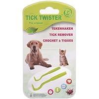 jowiha–Otom Tick Twister Tick removers (Pack de 2), color verde