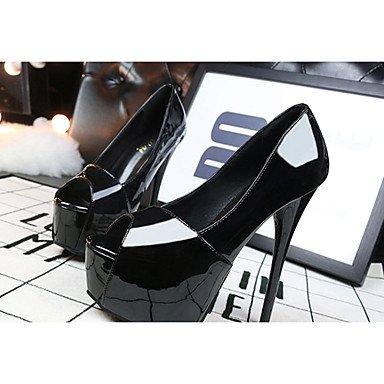 Moda Donna Sandali Sexy Donna Sandali Estate Peep toe PU Casual Stiletto Heel altri Nero / Bianco Altri Black