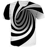 NEWISTAR Unisex Jugend 3D Druck Grafik Casual Kurzarm T-Shirt , Style-2, M
