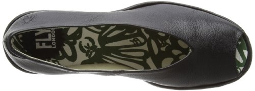 Fly London  YURY, chaussures compensées femme Noir  (Black mousse)