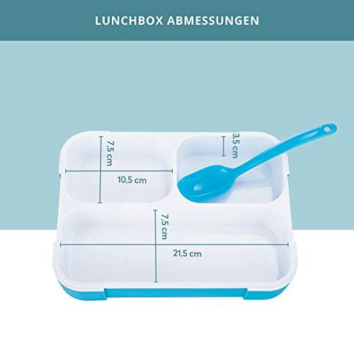 FITPREP Original Lunchbox | 3 Fächer | Auslaufsicher - 5