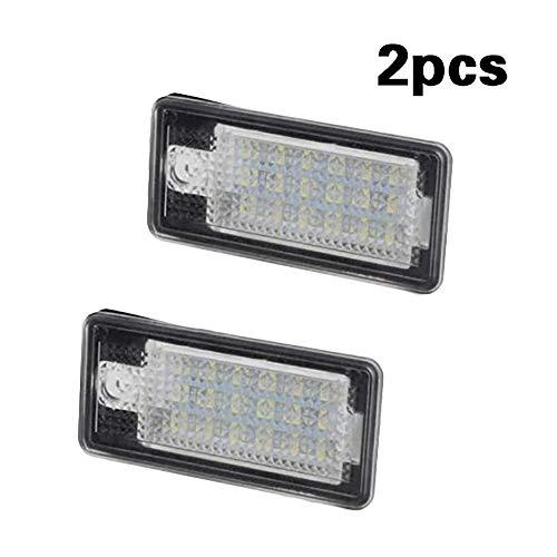 Lecimo Kfz-Kennzeichenbeleuchtung, 2Pcs LED hinten Kennzeichenbeleuchtung für Audi A3 S3 A4 A4 A6 C6 A8 S8 Q7 (Audi A4 Leichter)