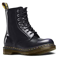 Dr. Martens Womens 1460W Originals Eight-Eye Lace-Up Boot, Black, 9 M US/7 UK