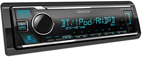 Kenwood KMM-BT305 USB-Autoradio mit Bluetooth Freisprecheinrichtung ( Soundprozessor, MP3, Spotify Control, 4x50 Watt, Farben einstellbar )