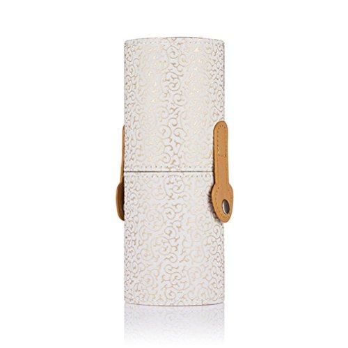 Frcolor Maquillage pinceau stockage cuve affaire brosse cosmétiques porte (blanc)