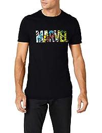 Marvel Comic Strip Logo T-Shirt, Camiseta para Hombre