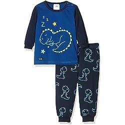Twins Pijama de Manga Larga para Bebé Niño Azul (marine 3011) 9-12 meses (Talla del fabricante: 80)