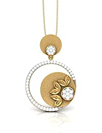 The House Of Diamonds 18KT Yellow Gold And Diamond Pendant For Women - B076CW8X2M