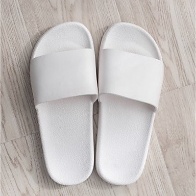 Zhenfu Pantoufles Unisexes & Amp; Tongs Spring Summer Confort Informelle Pvc Plat Talon Blanc