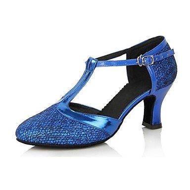 Silence @ pour femme en similicuir supérieure Chaussures de danse latine Sandales avec boucle Violet