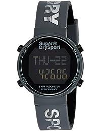 Superdry Digi Pedometer Digital Black Dial Men's Watch-SYG203E