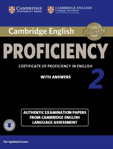 Certificate of Proficiency in English With Answers