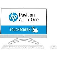 """HP All-in-One 24-F0015NS - Ordenador sobremesa Todo en uno de 23.8"""" FHD (Intel Core i3-8130U, 8 GB DDR4, 256 GB SSD, Intel UHD Graphics 620, Sin Sistema operativo), Blanco Nieve"""