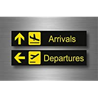 Akacha Sticker Adhesive Wall Stickers for Macbook Sign Airport Arrival Department Walls
