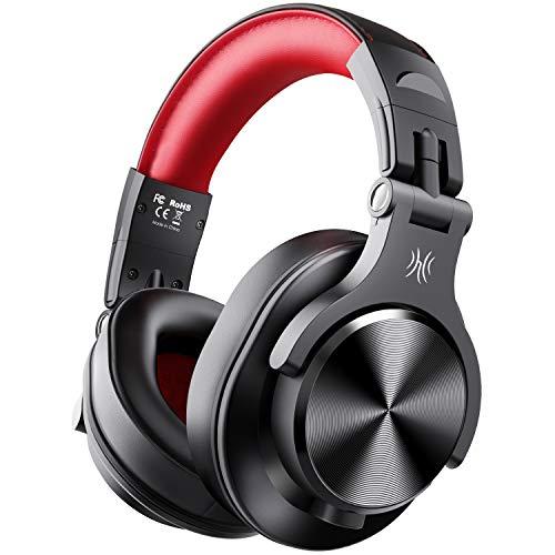 Casque Bluetooth Sans Fil OneOdio Casque Audio Fermé DJ Casque Studio Professionnel Casque Filaire Casque Monitoring avec Prise 6.35 & 3.5mm pour Piano Enregistrement AMP Smartphone Tablette PC