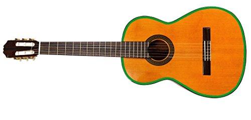 2 Meter Gitarren Umrandung 10mm breite, Hochglanz hell grün