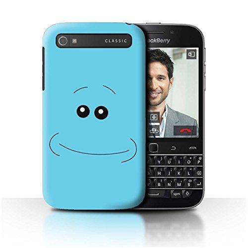 Stuff4 Hülle / Case für Blackberry Classic/Q20 / Glücklich Muster / Lustige Meeseeks Gesichter Kollektion (Classic Gesicht Glückliches)