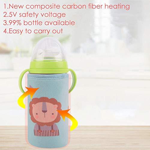 Favourall Calentador de biberones USB, esterilizador para biberones, Calentador de bebés, Calentador...