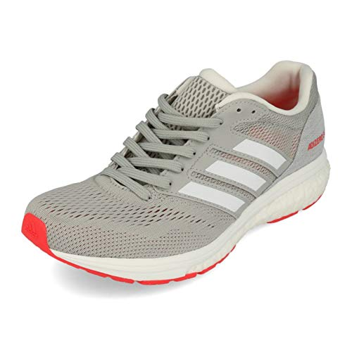 adidas Performance Adizero Boston 7 Laufschuh Damen grau/rot, 7 UK - 40 2/3 EU - 8.5 US
