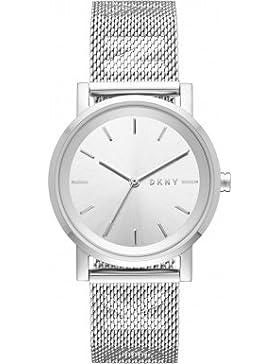 DKNY Damen-Armbanduhr 34mm Armband Edelstahl + Gehäuse Quarz Analog NY2620