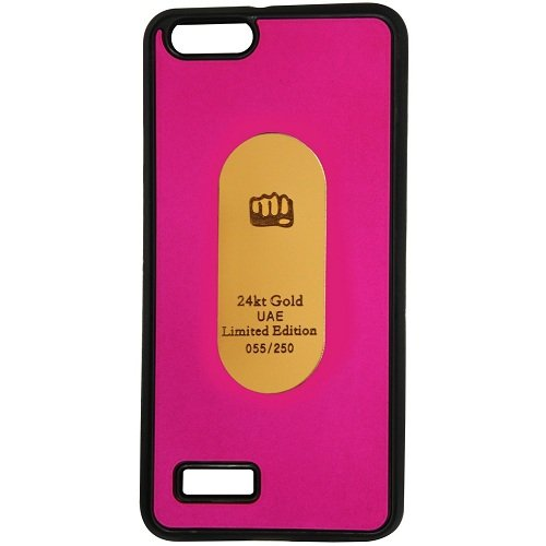 Casotec Metal Back TPU Back Case Cover for Micromax Canvas Hue AQ5000 - Pink  available at amazon for Rs.119