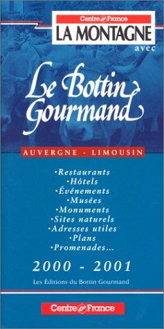 Bottin gourmand Auvergne, Limousin