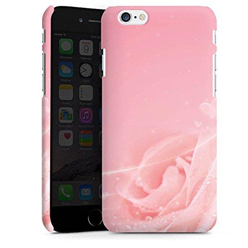 Apple iPhone X Silikon Hülle Case Schutzhülle Rose Blumen Pink Premium Case matt