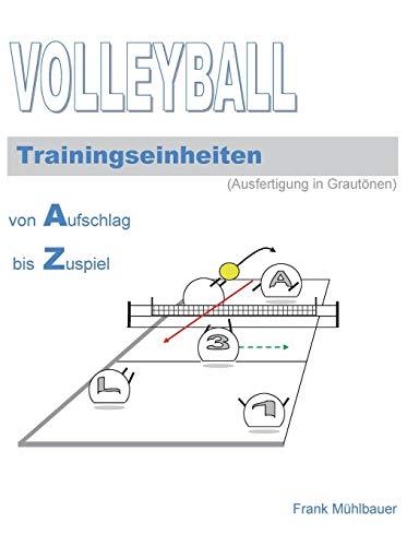 Volleyball Trainingseinheiten: Illustrationen in Grautönen