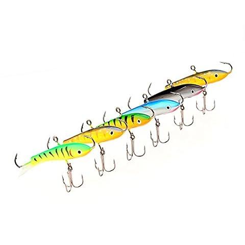 A-szcxtop Ice Jig Leurres de pêche, DE vos Swimbait Appât artificiel, s'enfoncer avec Strong Crochets Bass Bait 7.7cm 21g